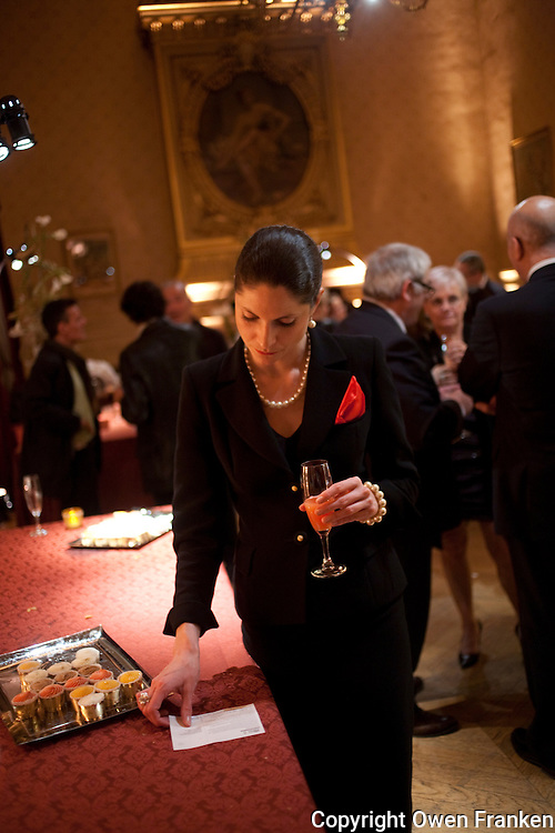 Lucie Blain at the aAmnesty Gala - Photograph by Owen Franken