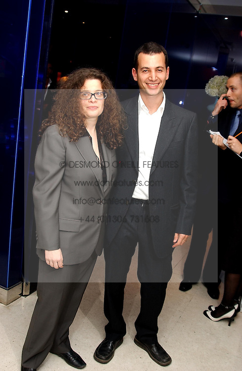 MATTHEW SLOTOVER and AMANDA SHARP at a dinner hosted by Cartier to celebrate the opening of the 2004 Frieze Art Fair, held at Yauacha 15-17 Broadwick Street, London W1 on 13th October 2004.<br /><br />NON EXCLUSIVE - WORLD RIGHTS