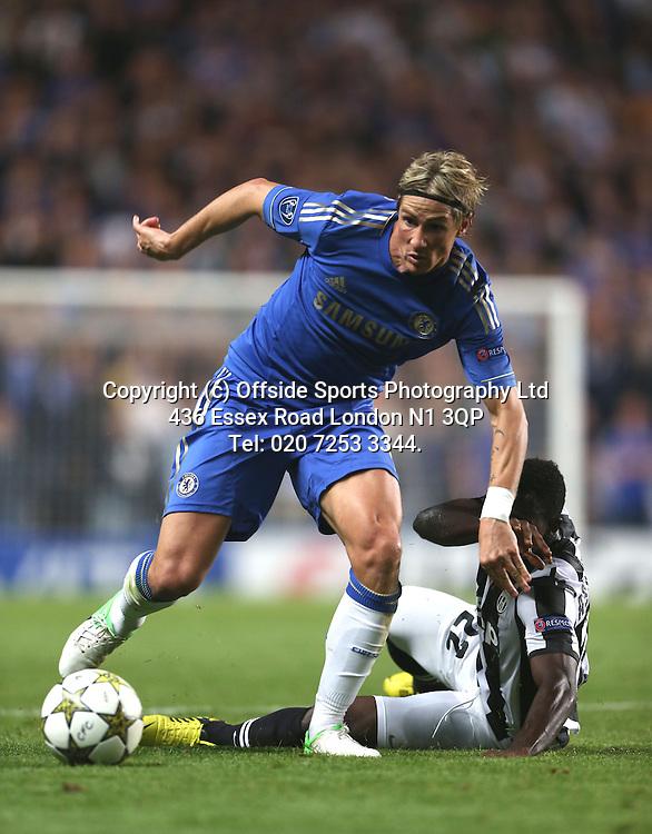 19 September 2012 Champions League football. Chelsea v Juventus.<br /> Fernando Torres.<br /> Photo: Mark Leech.