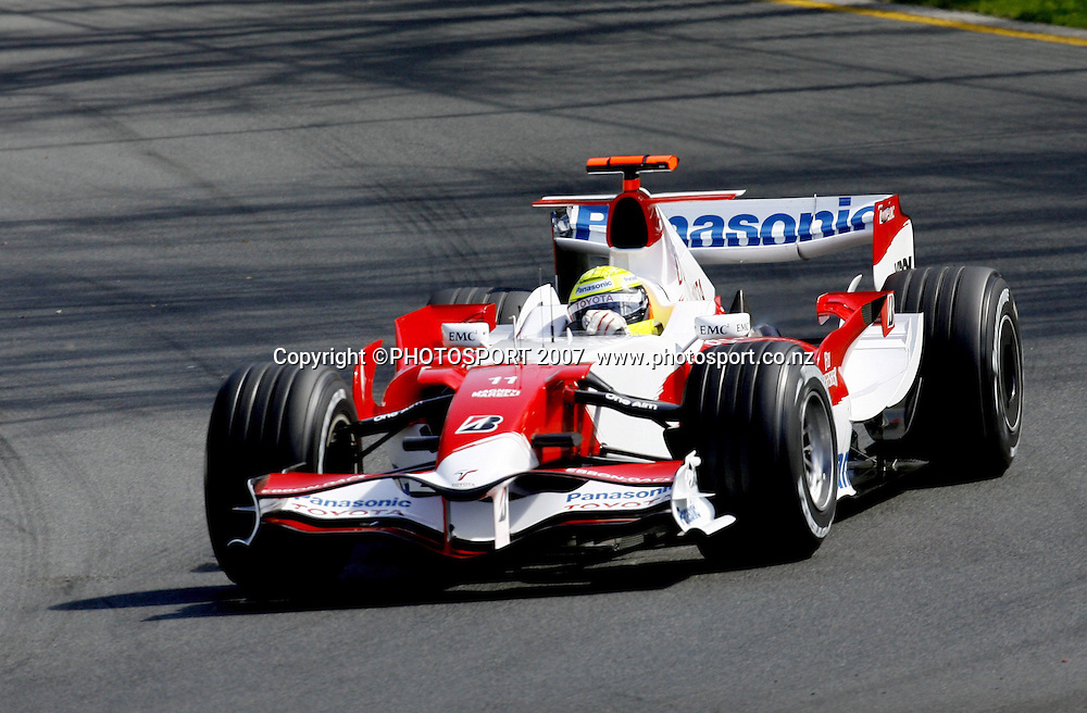 Ralf Schumacher in action for Toyota during the Australian Formula 1 Grand Prix at Melbourne, Australia on Sunday 18 March 2007. Photo: Panoramic/PHOTOSPORT #NO AGENTS#<br /> <br /> <br /> 180307 *** Local Caption ***