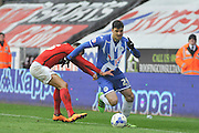 Wigan Striker Haris Vuckic during the Sky Bet League 1 match between Wigan Athletic and Coventry City at the DW Stadium, Wigan, England on 9 April 2016. Photo by John Marfleet.