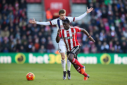 Victor Wanyama of Southampton runs past James McClean of West Bromwich Albion - Mandatory by-line: Jason Brown/JMP - 07966386802 - 16/01/2016 - FOOTBALL - Southampton, St Mary's Stadium - Southampton v West Bromwich Albion - Barclays Premier League