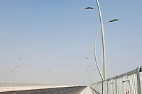 Street Light Along Wide Highway