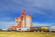 Inland grain terminal and train <br /> Weyburn<br /> Saskatchewan<br /> Canada