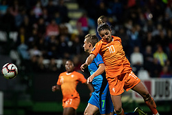 Daniëlle van de Donk of Nederland and Kristina Erman of Slovenia during football match between Slovenia and Nederland in qualifying Round of Woman's qualifying for EURO 2021, on October 5, 2019 in Mestni stadion Fazanerija, Murska Sobota, Slovenia. Photo by Blaž Weindorfer / Sportida