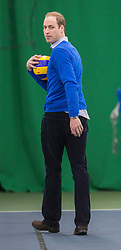 Prince William today attended a Coach Core Project at the Westway Sports Centre, London, United Kingdom. He met coaches and pupils and joined in with skills sessions, including playing volleyball. Wednesday, 4th December 2013. Picture by i-Images