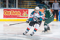 KELOWNA, CANADA - JANUARY 24: Nick Merkley #10 of Kelowna Rockets skates against the Everett Silvertips on January 24, 2015 at Prospera Place in Kelowna, British Columbia, Canada.  (Photo by Marissa Baecker/Shoot the Breeze)  *** Local Caption *** Nick Merkley;