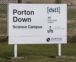 © Licensed to London News Pictures. 07/03/2018. Salisbury, UK. Porton Down a government facility where it is thought that scientists have been involved in the case of suspected poisoning of former Russian spy Sergei Skripal who has become ill, along with his daughter Yulia, in Salisbury, England. The couple where found unconscious on bench in Salisbury shopping centre. Specialist units have been called in to deal with any possible contamination. Photo credit: Peter Macdiarmid/LNP