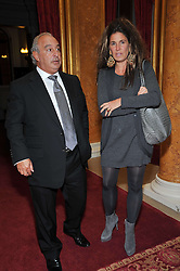 SIR PHILLIP GREEN and ELIZABETH SALTZMAN at a party to celebrate 300 years of Tatler magazine held at Lancaster House, London on 14th October 2009.