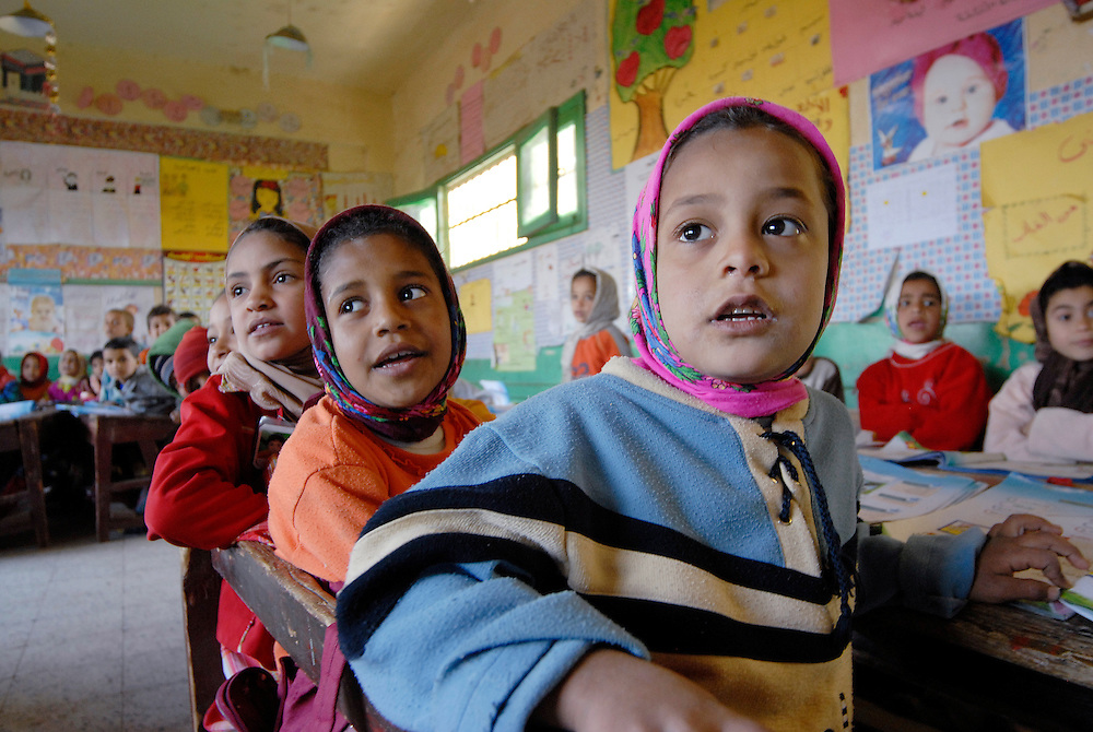 EGYPT, SOHAG: Water projects for schools and families are supported by NGOs in rural areas to improve living conditions and encourage people to stay in their villages. In El Zarazra Elementary School in Dar El Salam Village, local NGOs started water and hygiene projects to educate children about the importance of clean water.
