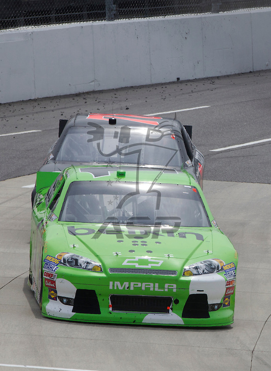 Martinsville, VA - APR 01, 2012:  Jamie McMurray (1) races for position during the Goody's Fast Relief 500 race at the Martinsville Speedway in Martinsville, VA.