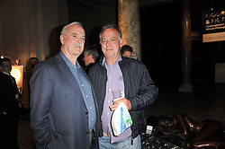 Left to right, JOHN CLEESE and MICHAEL BARRYMORE at a private view of a new collection of bronzes and original paintings by artist Jonathan Wylder and his muse Jennifer Wade held at the V&A Museum, London on 27th April 2011.
