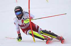 26.01.2020, Streif, Kitzbühel, AUT, FIS Weltcup Ski Alpin, Slalom, Herren, 1. Lauf, im Bild Manuel Feller (AUT) // Manuel Feller (AUT) in action during his 1st run in the men's Slalom of FIS Ski Alpine World Cup at the Streif in Kitzbühel, Austria on 2020/01/26. EXPA Pictures © 2020, PhotoCredit: EXPA/ SM<br /> <br /> *****ATTENTION - OUT of GER*****