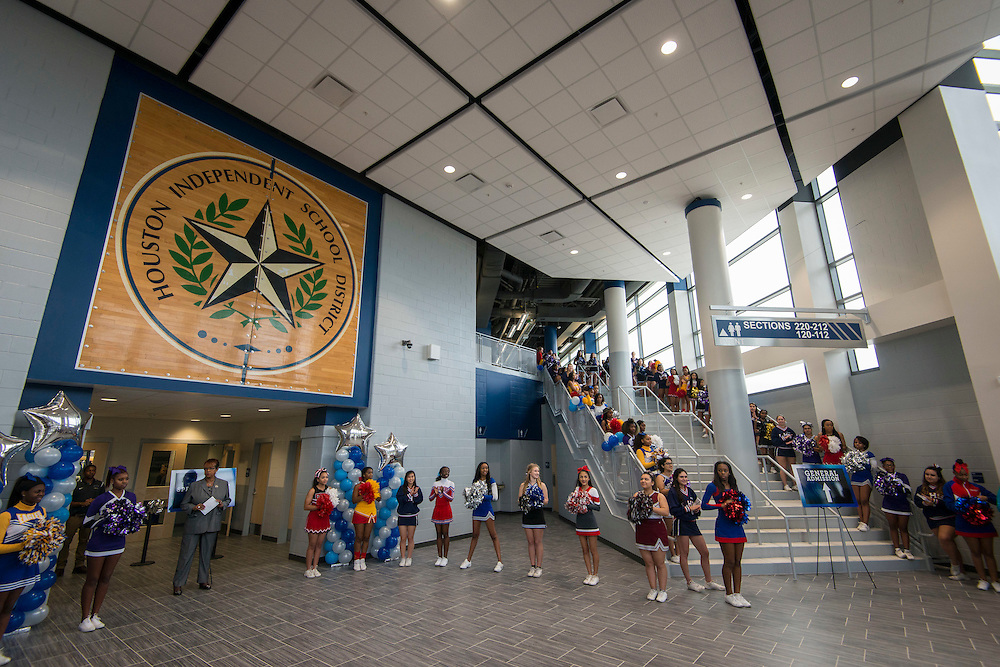 Grand opening ceremony at Delmar Fieldhouse, February 10, 2017.
