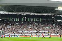 Banderole supporters Saint Etienne - 22.03.2015 - Saint Etienne / Lille - 30eme journee de Ligue 1 <br />Photo : Jean Paul Thomas / Icon Sport