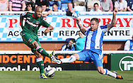 Picture by Paul  Gaythorpe/Focus Images Ltd +447771 871632.08/09/2012.Sam Collins of Hartlepool United and Danny Cademarteri of Carlisle United during the npower League 1 match at Victoria Park, Hartlepool.