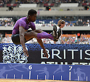 Marquis Dendy USA long jumperduring the Sainsbury's Anniversary Games at the Queen Elizabeth II Olympic Park, London, United Kingdom on 25 July 2015. Photo by Mark Davies.