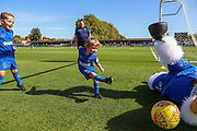 Haydon the Womble saving shot from Mascot during the EFL Sky Bet League 1 match between AFC Wimbledon and Shrewsbury Town at the Cherry Red Records Stadium, Kingston, England on 14 September 2019.