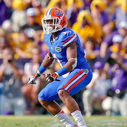 Oct 12, 2013; Baton Rouge, LA, USA; Florida Gators defensive back Vernon Hargreaves III (1) against the LSU Tigers during the first half of a game at Tiger Stadium. Mandatory Credit: Derick E. Hingle-USA TODAY Sports
