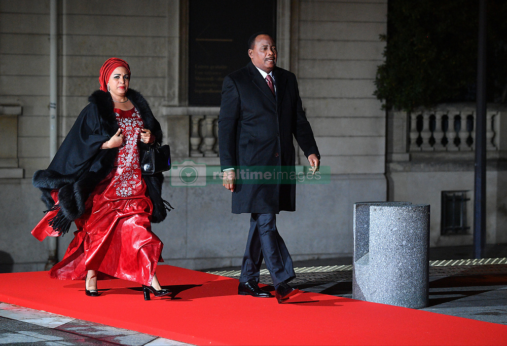 Niger's President Mahamadou Issoufou and wife Lalla Malika arriving on eve of the commemoration of the Centenary of Armistice Day 1918 for a State Dinner in Musee d'Orsay, Paris, France on November 10th,2018. Photo by Christian Liewig/ABACAPRESS.COM