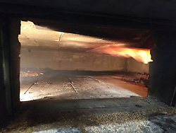 Sally's Apizza Restaurant Oven with Fire - New Haven CT 2 June 2019