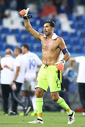 September 5, 2017 - Reggio Emilia, Italy - Gianluigi Buffon of Italy greeting the supporters during the FIFA World Cup 2018 qualification football match between Italy and Israel at Mapei Stadium in Reggio Emilia on September 5, 2017. (Credit Image: © Matteo Ciambelli/NurPhoto via ZUMA Press)