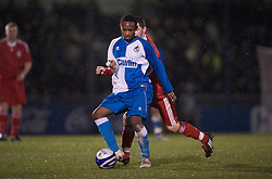 BRISTOL, ENGLAND - Thursday, January 15, 2009: Bristol Rovers' Nabi Diallo during the FA Youth Cup match at the Memorial Stadium. (Mandatory credit: David Rawcliffe/Propaganda)