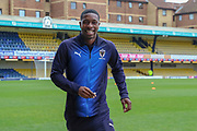 AFC Wimbledon attacker Michael Folivi (41) on the pitch during the EFL Sky Bet League 1 match between Southend United and AFC Wimbledon at Roots Hall, Southend, England on 16 March 2019.