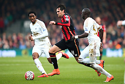 Charlie Daniels of Bournemouth in action - Mandatory by-line: Jason Brown/JMP - Mobile 07966 386802 12/03/2016 - SPORT - FOOTBALL - Bournemouth, Vitality Stadium - AFC Bournemouth v Swansea City - Barclays Premier League