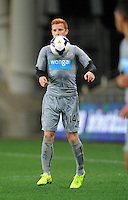 Newcastle United's Jack Colback against Sydney FC in the first match of the Football United Tour at Forsyth Barr Stadium, Dunedin, New Zealand, Tuesday, July 22, 2014.