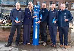 Youngsters paid tribute to one of Dumfries' most celebrated former residents when they unveiled a new water refill tap in the town.<br /> <br /> The high tech Top Up Tap has been installed by Scottish Water as part of its national initiative to encourage people to carry a reusable bottle and stay hydrated on the go. <br /> <br /> Pictured: Scottish Water employees with the Top Up Tap