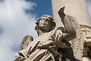 Angel sculpture  in front of Church of San Domenico, Palermo, Sicily, Italy. Closeup