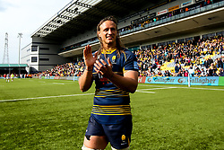 Anton Bresler of Worcester Warriors celebrates beating Gloucester Rugby and securing Premiership Rugby status - Mandatory by-line: Robbie Stephenson/JMP - 28/04/2019 - RUGBY - Sixways Stadium - Worcester, England - Worcester Warriors v Gloucester Rugby - Gallagher Premiership Rugby