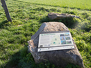Information panel about Marlborough downs chalk landscape, Hackpen Hill, Wiltshire, England, UK