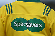 Specsavers sponsorship during a pre season Super Rugby match. Blues v Storm, Pakuranga Rugby Club, Auckland, New Zealand. Thursday 4 February 2016. Copyright Photo: Andrew Cornaga / www.Photosport.nz