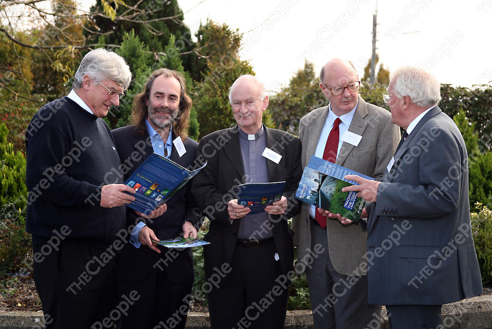 Fr. Harry Bohan with John Waters, Bishop Donal Murray, Paul Tansey and Maurice Neligan speaking at the 2007 Ceifin Conference in the West County on Tuesday.<br /><br />Photograph by Yvonne Vaughan.