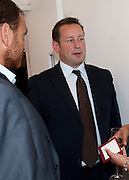 ED VAIZEY, Pablo Bronstein, Sketches for Regency Living. Discussion and lunch. ICA. The Mall. London. 7 June 2011. <br /> <br />  , -DO NOT ARCHIVE-© Copyright Photograph by Dafydd Jones. 248 Clapham Rd. London SW9 0PZ. Tel 0207 820 0771. www.dafjones.com.