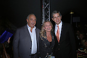 Philip Green, Tina Green and Stuart Rose. Topshop Fashion Show and party. Berkeley Sq. London. 19  September 2005. ONE TIME USE ONLY - DO NOT ARCHIVE © Copyright Photograph by Dafydd Jones 66 Stockwell Park Rd. London SW9 0DA Tel 020 7733 0108 www.dafjones.com
