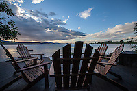 A view of Lake Nicaragua from the deck at Jicaro Island Ecolodge, Granada, Nicaragua