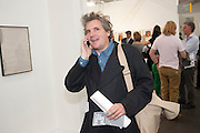 JAMES MOORES, OPENING OF FRIEZE ART FAIR. Regent's Park. London.  12 October 2011. <br /> <br />  , -DO NOT ARCHIVE-© Copyright Photograph by Dafydd Jones. 248 Clapham Rd. London SW9 0PZ. Tel 0207 820 0771. www.dafjones.com.