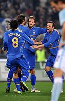 """Olof Mellberg celebrates scoring <br /> Esultanza di Mellberg dopo il gol<br /> Roma 18/1/2009 Stadio """"Olimpico"""" <br /> Campionato Italiano Serie A 2008/2009 <br /> Lazio Juventus (1-1)<br /> Massimo Oliva /Insidefoto"""
