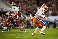 #3 Artavis Scott of Clemson and #29 Minkah Fitzpatrick of Alabama, during first quarter game action.