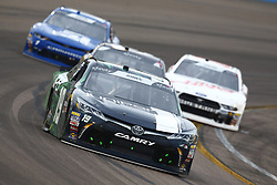 March 10, 2018 - Avondale, Arizona, United States of America - March 10, 2018 - Avondale, Arizona, USA: Brandon Jones (19) brings his car through the turns during the DC Solar 200 at ISM Raceway in Avondale, Arizona. (Credit Image: © Chris Owens Asp Inc/ASP via ZUMA Wire)