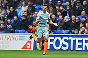 Cesar Azpilicueta (28) of Chelsea celebrates scoring the equalising goal to make the score 1-1 during the Premier League match between Cardiff City and Chelsea at the Cardiff City Stadium, Cardiff, Wales on 31 March 2019.