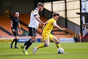 AFC Wimbledon midfielder Jake Reeves (8) wins the ball  during the EFL Sky Bet League 1 match between Port Vale and AFC Wimbledon at Vale Park, Burslem, England on 1 April 2017. Photo by Simon Davies.