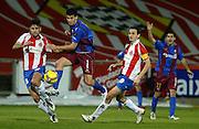 2009. January, 24th. Partido de segunda división A disputado entre el Girona F.C. como equipo local y el Huesca..COPYRIGHT: TONI VILCHES FOTOGRAFIA.