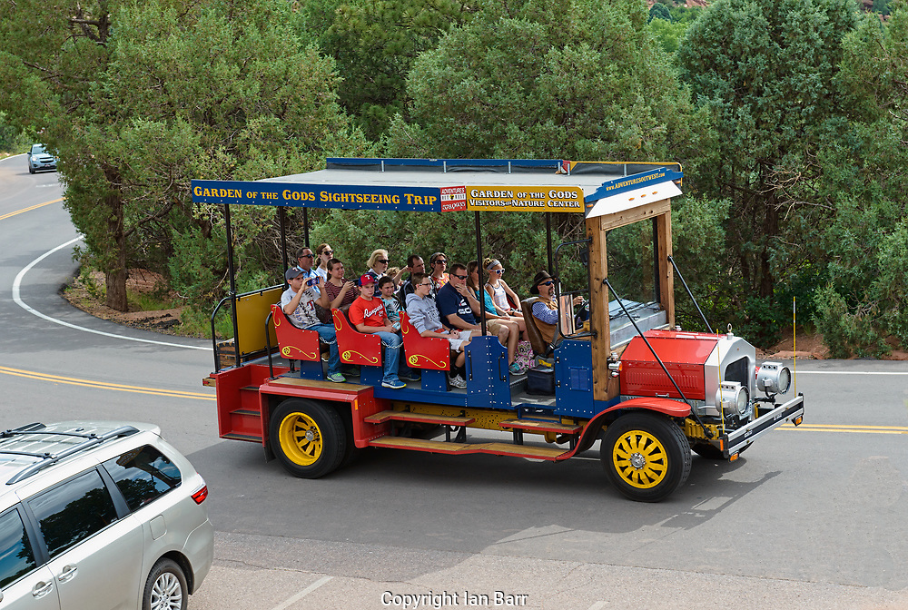 Sightseeing Bus,Colorado Springs; Colorado; Garden of the Gods