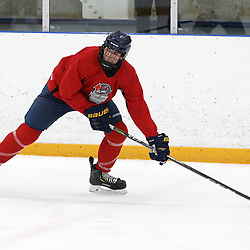 OSHAWA, ON - APRIL 7: on April 7, 2019 at Campus Ice Centre in Oshawa, Ontario, Canada.<br /> (Photo by Tim Bates / OJHL Images)