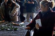 Roma, 24 Marzo 2013.Commemorazione per il 69° anniversario dell'eccidio delle Fosse Ardeatine,compiuto a Roma dalle truppe di occupazione della Germania nazista il 24 marzo 1944, furono uccisi, 335 civili e militari italiani. L'omaggio all'interno del Sacrario