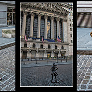 Fearless Girl is a bronze sculpture by Kristen Visbal, the statue was originally installed on March 7, 2017, at Bowling Green in the Financial District of Manhattan.  By the end of 2018 she was moved to a new location facing the New York Stock Exchange.<br /> <br /> Fearless Girl is meant to &quot;send a message&quot; about workplace gender diversity and encourage companies to recruit women to their boards.<br /> <br /> The &quot;Fearless Girl&quot; has drawn widespread attention. Tourists have taken countless pictures with the girl and dressed her with both pink Pussyhats from the Women's March to red Make American Great Again caps from President Trump's campaign.